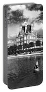 Toy Boating In A Parisian Park Bw Portable Battery Charger