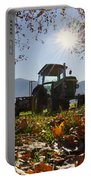 Tractor In Backlight Portable Battery Charger