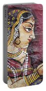 Traditional Painting On A Wall Jodhpur Portable Battery Charger