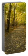 Trail Scene Autumn Abstract 1 Portable Battery Charger