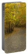 Trail Scene Autumn Abstract 3 Portable Battery Charger