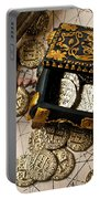 Treasure Box With Old Pistol Portable Battery Charger by Garry Gay