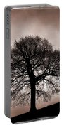 Tree Against A Stormy Sky Portable Battery Charger