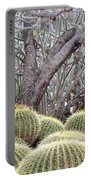 Tree And Barrel Cactus Portable Battery Charger
