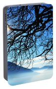 Tree Branches And Sun Portable Battery Charger