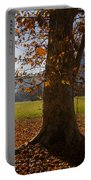 Tree With Autumn Leaves Portable Battery Charger