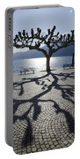 Tree With Shadow Portable Battery Charger