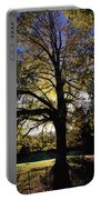 Trees During Autumn Portable Battery Charger
