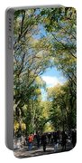Trees On The Mall In Central Park Portable Battery Charger