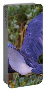 Tricolored Heron In Flight Portable Battery Charger