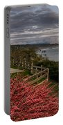 Trinidad Memorial Lighthouse After Storm Portable Battery Charger