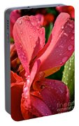 Tropical Rose Canna Lily Portable Battery Charger