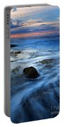 Tropical Sunrise Swirl Portable Battery Charger