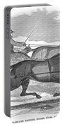 Trotting Horses, 1854 Portable Battery Charger