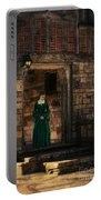Tudor Lady In Doorway Portable Battery Charger