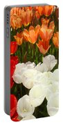 Tulip Flowers Festival Art Prints Floral Baslee Portable Battery Charger