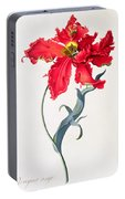 Tulip Perroquet Rouge Portable Battery Charger