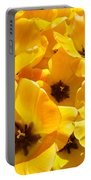 Tulips Art Prints Yellow Tulip Flowers Floral Portable Battery Charger