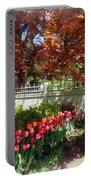 Tulips By Dappled Fence Portable Battery Charger