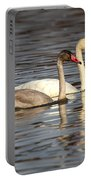 Tundra Swan And Cygnet Portable Battery Charger