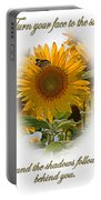 Turn Your Face To The Sun Portable Battery Charger