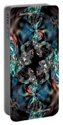 Turquoise Crystals Portable Battery Charger
