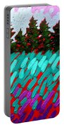 Turquoise Field Portable Battery Charger