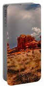 Turret Arch And Storm Clouds Portable Battery Charger