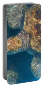 Turtle Underwater,high Angle View Portable Battery Charger