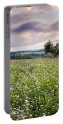 Tuscany Flowers Portable Battery Charger by Brian Jannsen