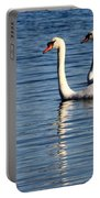 Two Beautiful Swans Portable Battery Charger by Sabrina L Ryan