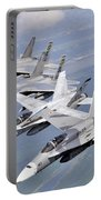 Two Fa-18 Hornets And Two F-15 Strike Portable Battery Charger