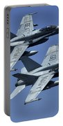 Two Fa-18c Hornets In Flight Portable Battery Charger