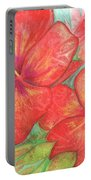 Two Hibiscus Blossoms Portable Battery Charger
