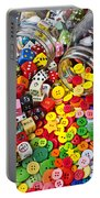 Two Jars Dice And Buttons Portable Battery Charger by Garry Gay