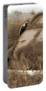 Two Old Rear Ends-sepia Portable Battery Charger