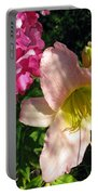 Two Pink Neighbors- Lily And Phlox Portable Battery Charger
