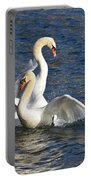 Two Swans Playing Portable Battery Charger