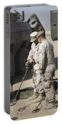 Two U.s. Marines Use A Mine Detector Portable Battery Charger
