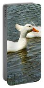Two White Ducks Portable Battery Charger