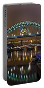 Tyne Bridge At Night Portable Battery Charger