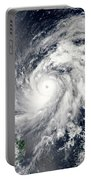 Typhoon Sanba Over The Pacific Ocean Portable Battery Charger