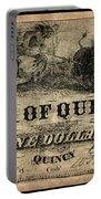 Union Banknote, 1861 Portable Battery Charger