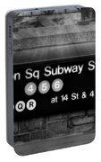 Union Square Subway Station Bw Portable Battery Charger