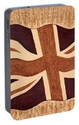 United Kingdom Flag Coffee Painting Portable Battery Charger
