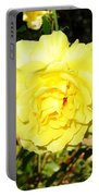 Upbeat Yellow Rose Portable Battery Charger