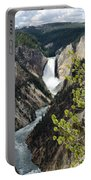 Upper Falls Of The Yellowstone River Portable Battery Charger