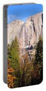 Upper Yosemite Falls In Autumn Portable Battery Charger
