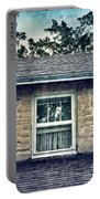 Upstairs Window In Stone House Portable Battery Charger