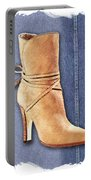 Urban Cowgirl Suede Boots Portable Battery Charger